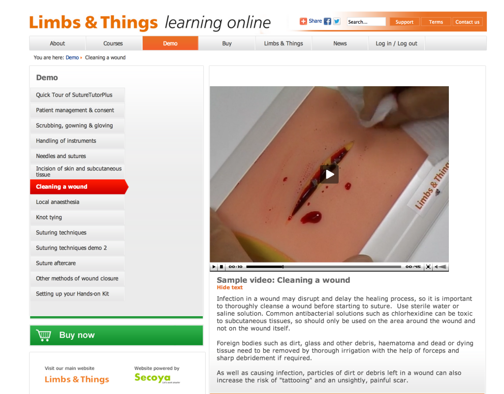 limbs learning online
