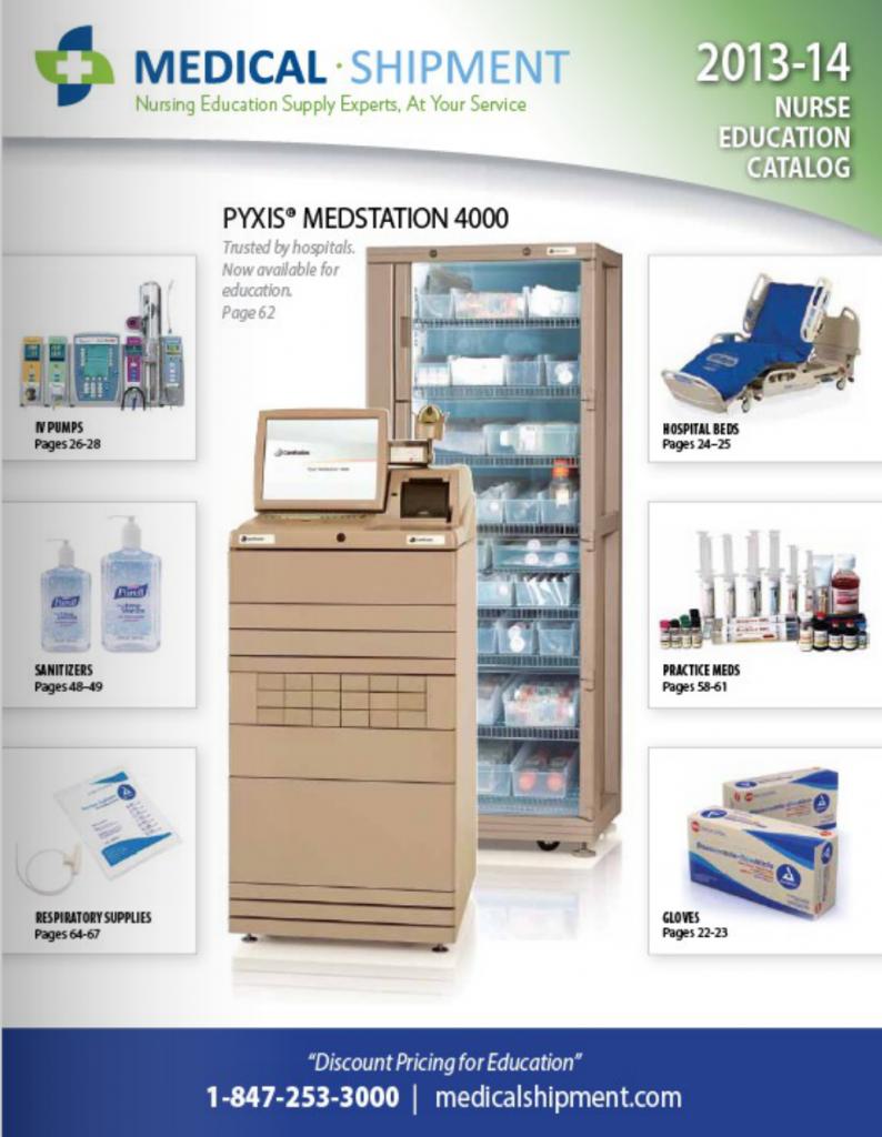 medical shipment brochure