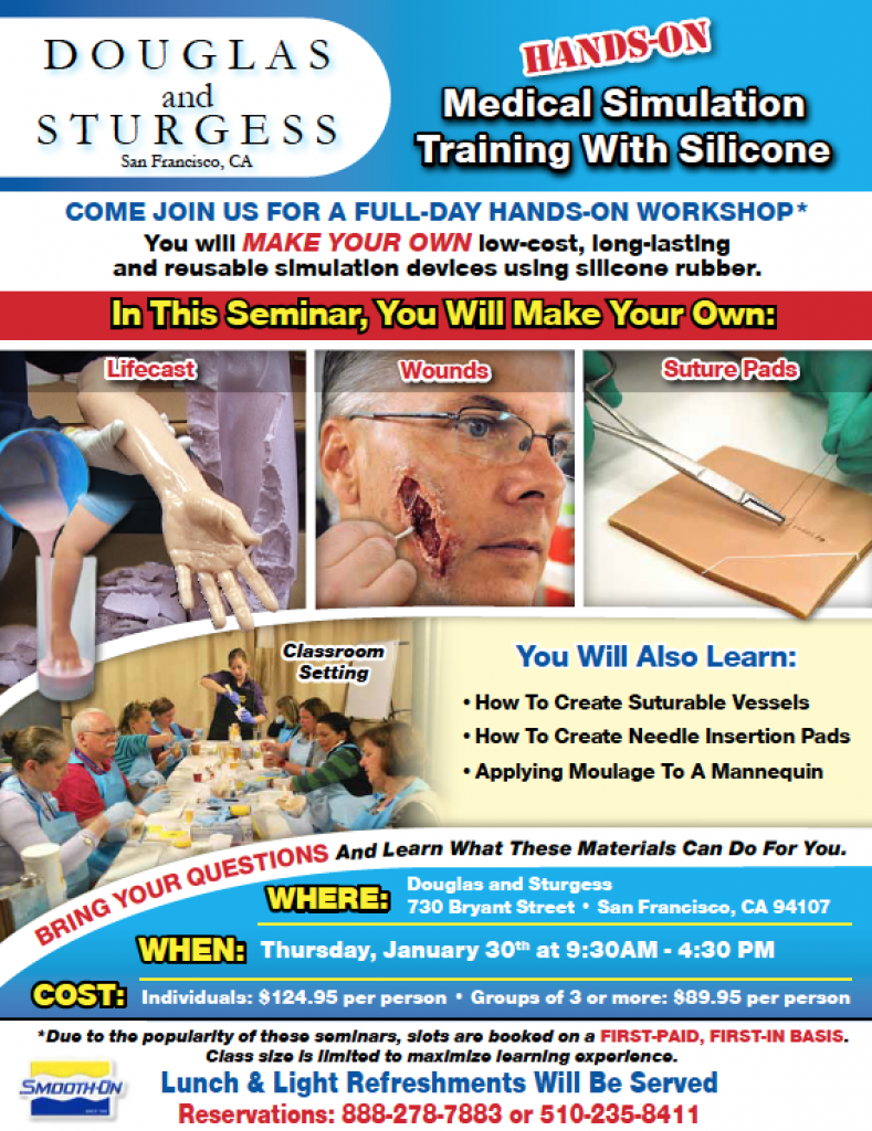 smooth-on training moulage course for medical simulation
