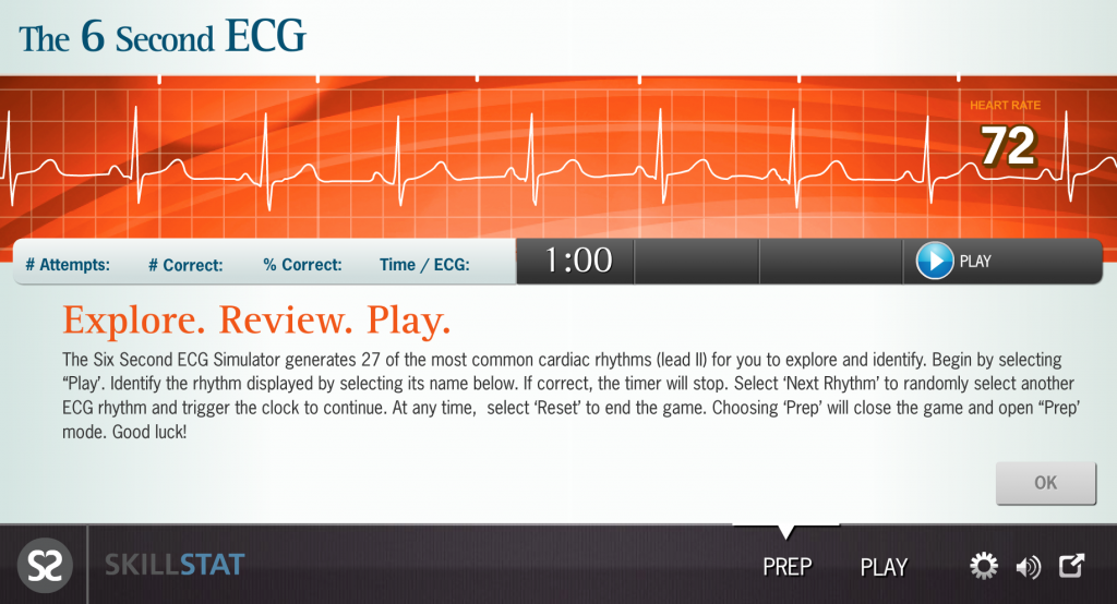 six second ecg simulator