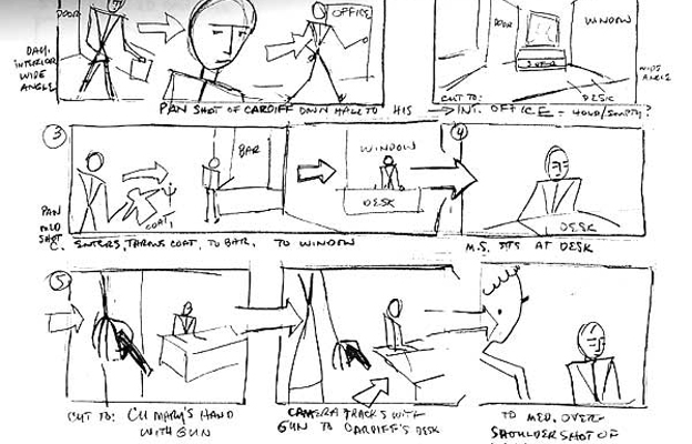 storyboarding a sim lab video