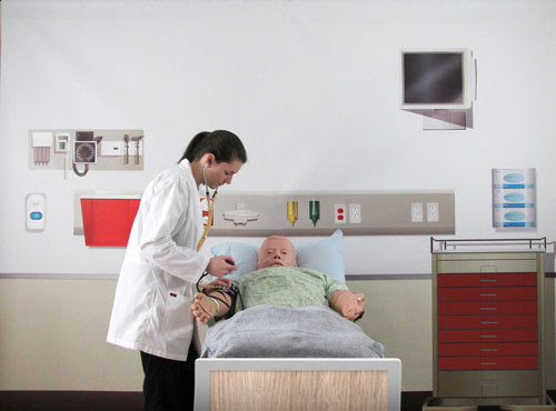 medical simulation wall backgrounds