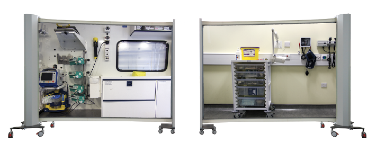 medical simulation mobile walls