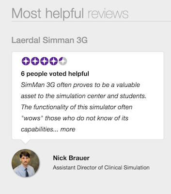 healthcare simulation product reviews