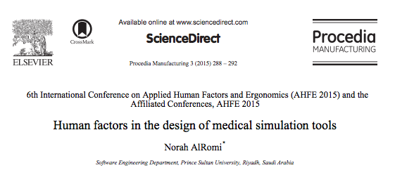 New Paper Human Factors In The Design Of Medical Simulation Tools Healthysimulation Com