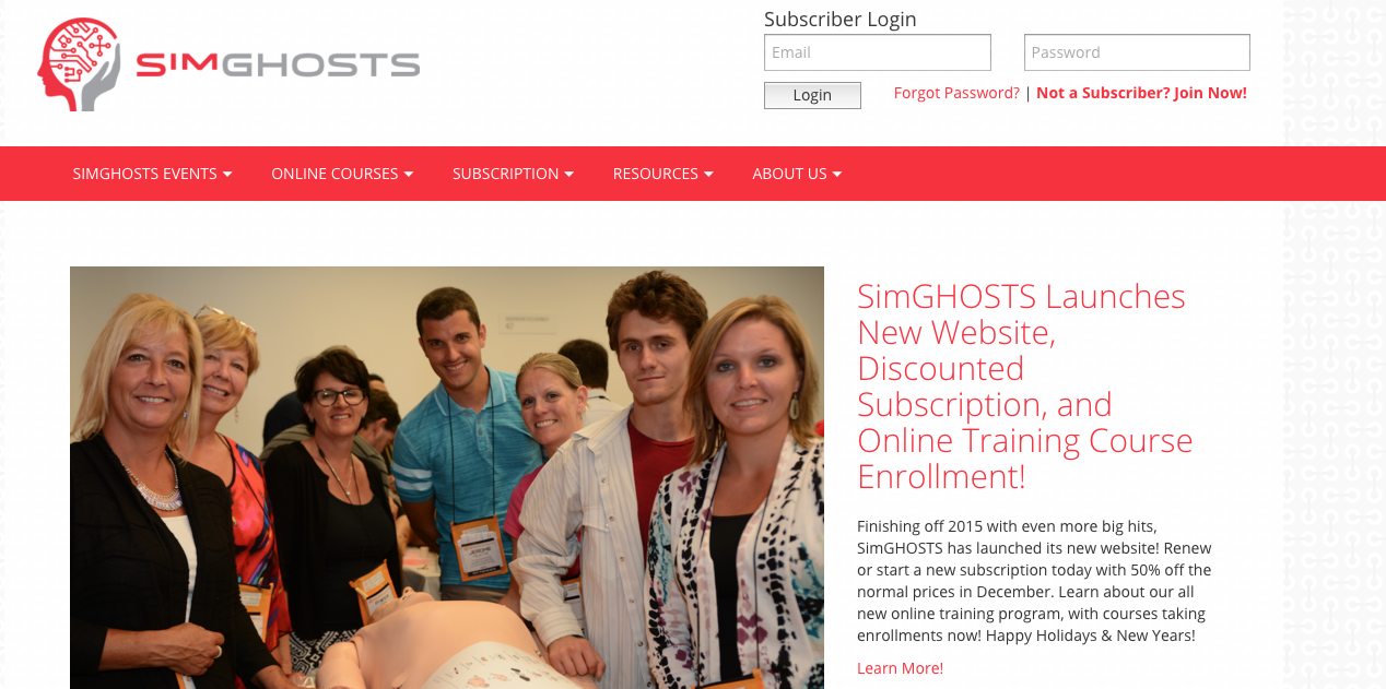 new simghosts website