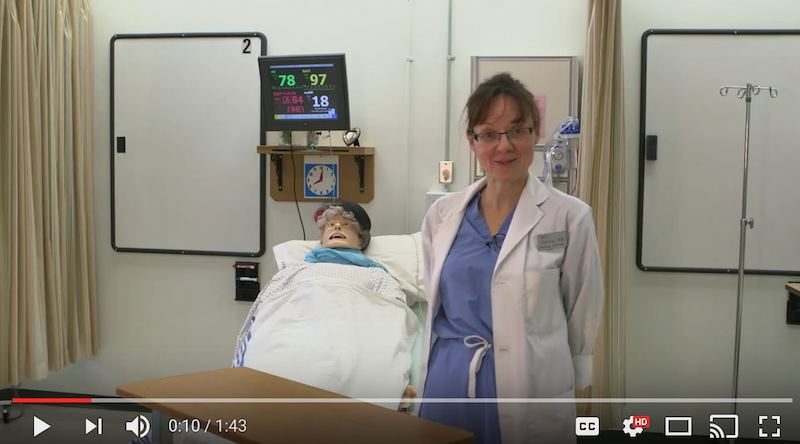 healthcare simulation orientation video