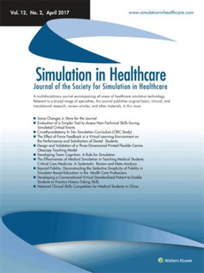 simulation in healthcare journal