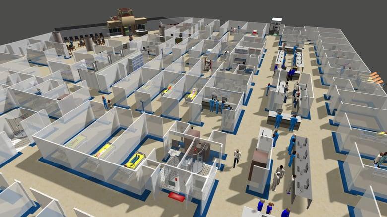 flexsim healthcare patient flow simulation
