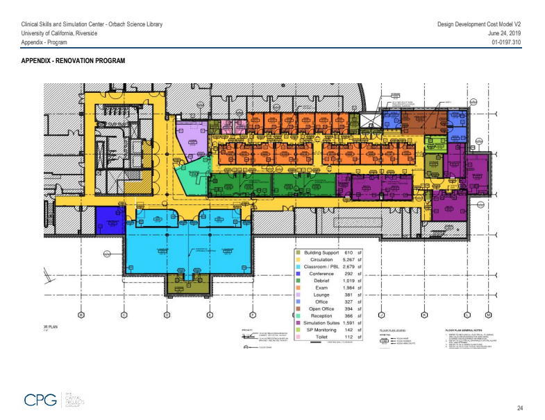 UCR SOM Simulation Building Floorplan