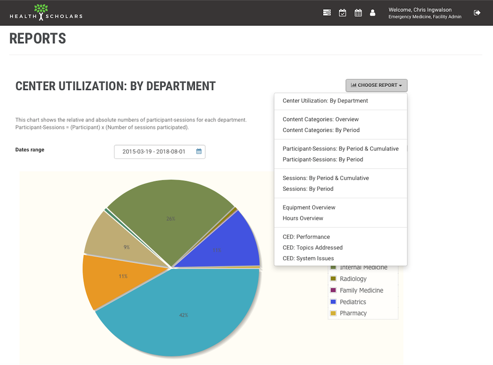 Health Scholars Simulation Program Management