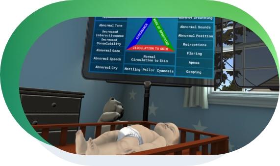 pediatric emergency assessment training in vr