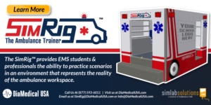 The New SimRig Ambulance Trainer From DiaMedical USA Provides Dynamic Approach to EMS Training